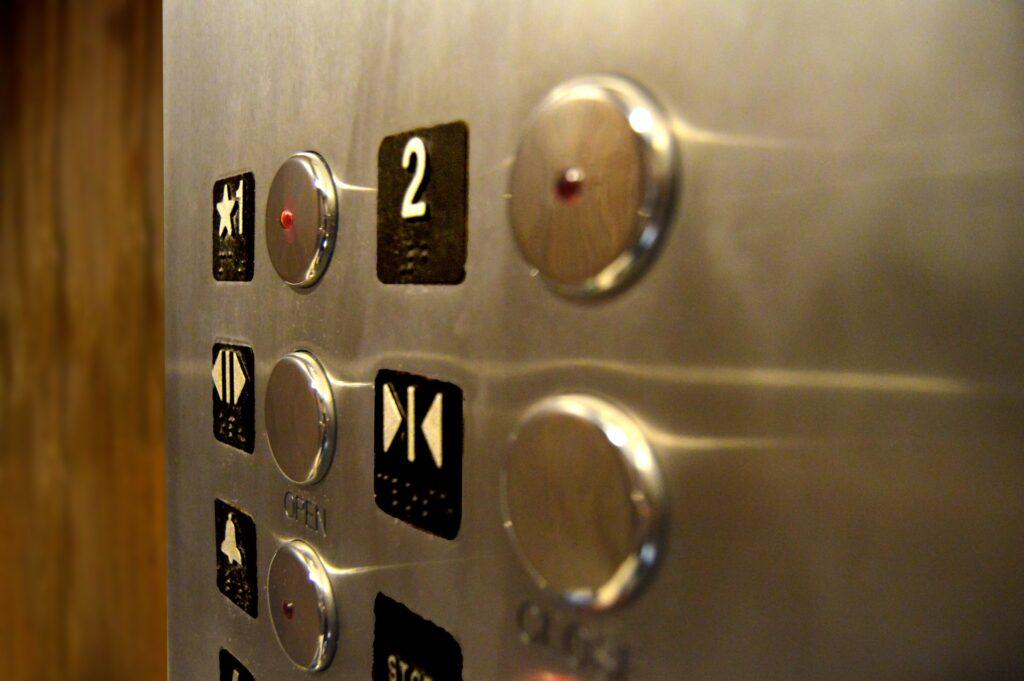 elevator germs inside